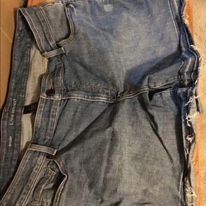 Comfortable woman's blue jean shorts